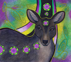Black Wallaroo as Totem by Ravenari