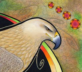 Tawny Eagle as Totem by Ravenari