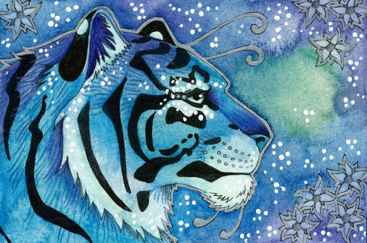 Blue Series - 04 Tiger by Ravenari