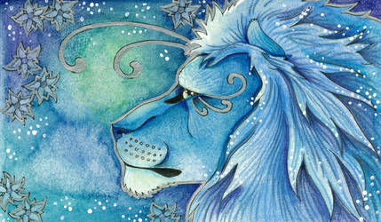 Blue Series - 05 Lion by Ravenari
