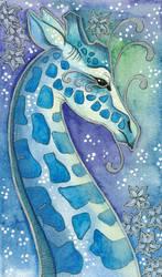 Blue Series - 06 Giraffe by Ravenari