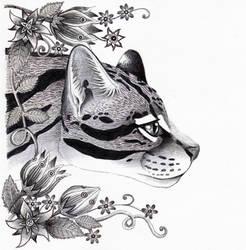 The Ocelot (Radiotherapy Days 3-6) by Ravenari