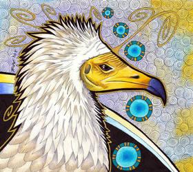 Egyptian Vulture as Totem by Ravenari