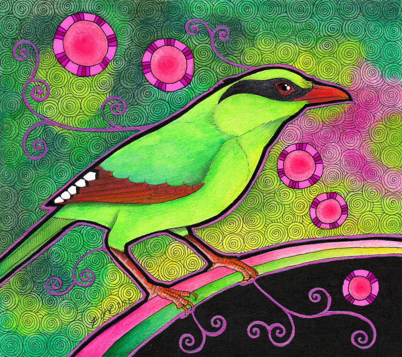 Common Green Magpie as Totem by Ravenari
