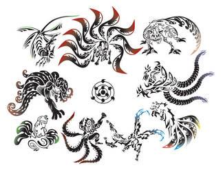 The Nine Bijuu by aznfirestarter