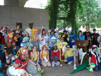 Pokemon Group Picture by lexaeusblanka