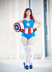 Female Captain America by lexaeusblanka