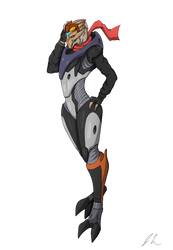 Danora Levius (colored) by upshdragoon
