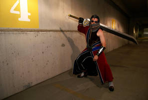 Auron Battle Stance - AZ 2009 by negativedreamer
