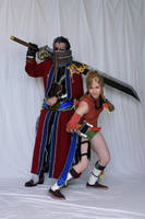 Auron with Rikku by negativedreamer