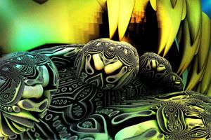 AZTEC  DECORATIVE MOTIF by DorianoArt