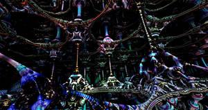 One Alien Temple by DorianoArt