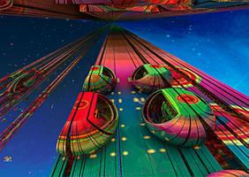 Space Shuffleboard by DorianoArt