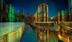 BIONOVOXIA ( Night View ) by DorianoArt