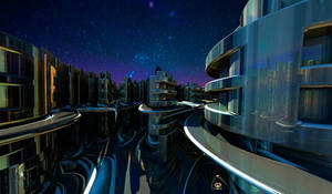 BIONOVOXIA ( Residential 3 by Night) by DorianoArt