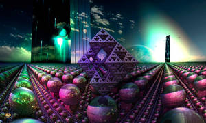 Pleiadian Towers by DorianoArt