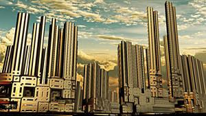 Golden Columns of Ixyos by DorianoArt