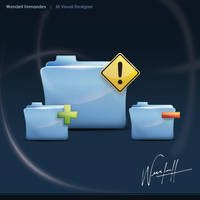 Blue Folders by dellustrations