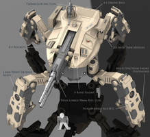Firewolf Mech Full View by Quesocito