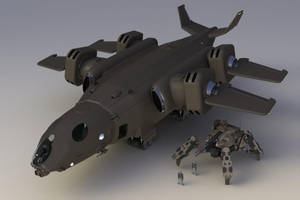 Thunderhawk Heavy Dropship FL I by Quesocito