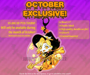 EXCLUSIVE OCTOBER WITCH MERCY CHARM AND STICKER!!! by Jubblier