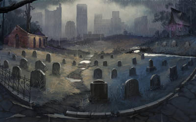Graveyard (wallpaper) by Der-Reiko