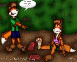 Zak and Kira by mamei799