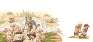 Don Quixotte vs Sheeps by scoppetta