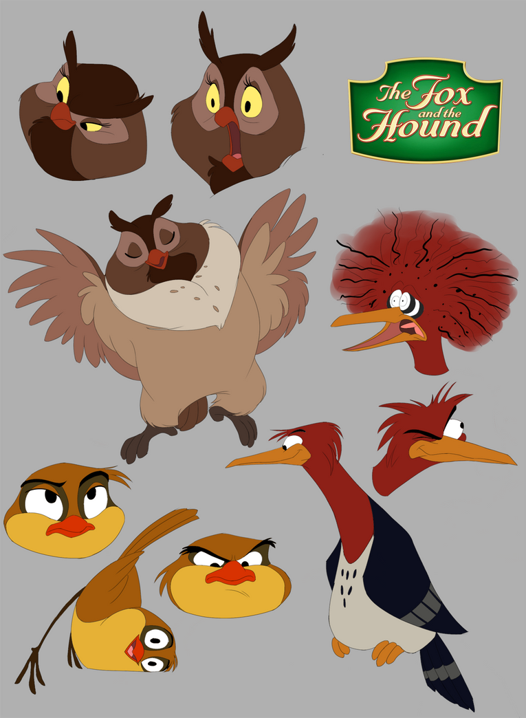 The Fox and The Hound: Big Mama, Boomer and Dinky by ...