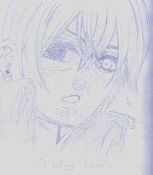 Rough Sketch of Ciel by animelover-boredgrl