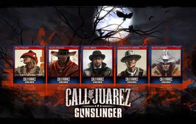 Call of Juarez Gunslinger trading cards by carlibux