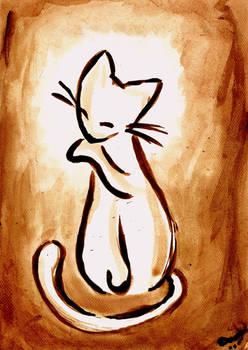 Sepia Kitty Special 2 by Dzinka