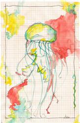 Jellyfish on graph paper by lenischoen