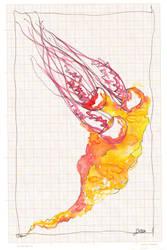 Jellyfish on graph paper III by lenischoen