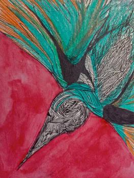 Red Bird by lenischoen