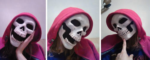Skull mask with moving jaw! by SabrePanther