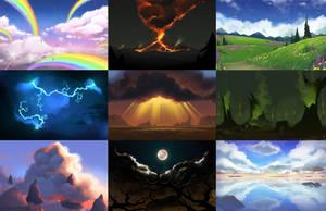 Cloud Speedpaints by PookaDoodle