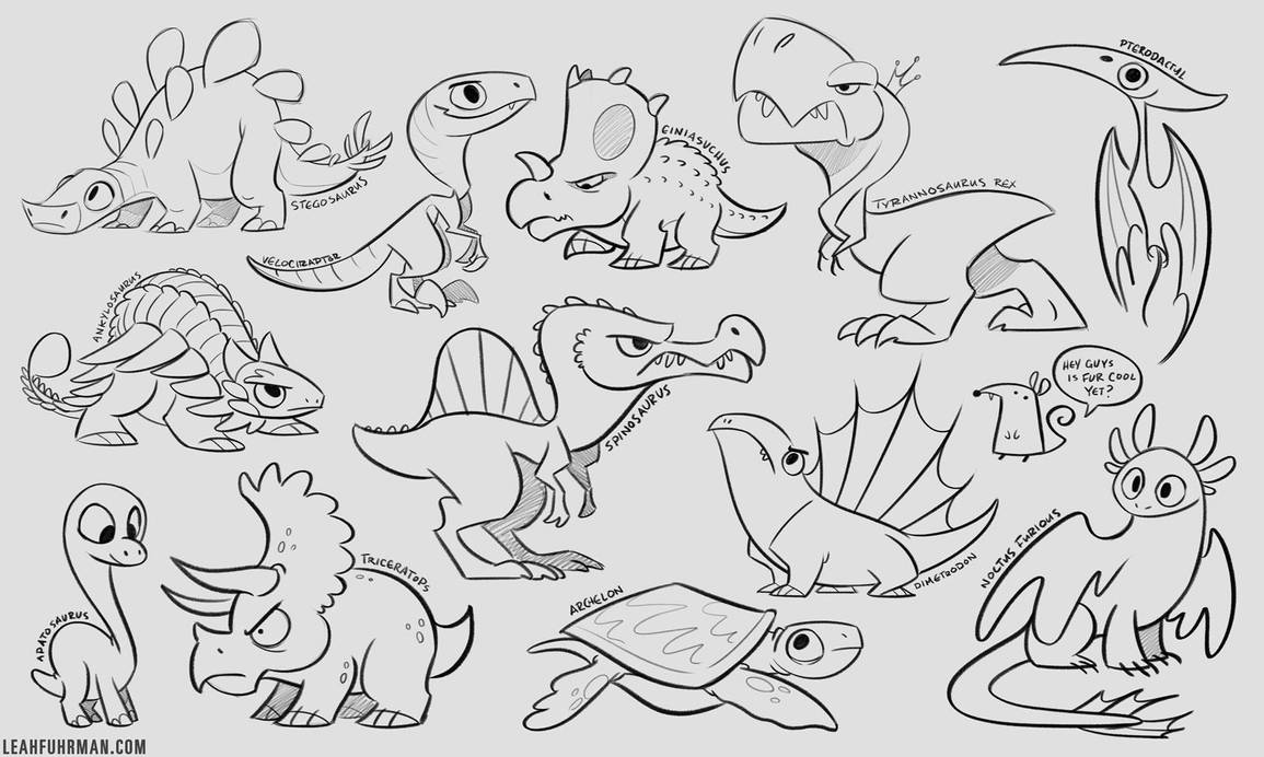 Dinos by PookaDoodle
