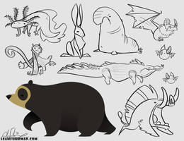 Grumpy Fauna by PookaDoodle