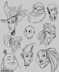 Faces by PookaDoodle
