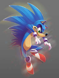 Sonic by PookaDoodle