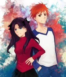 battle couple beta by DarkenedSakura