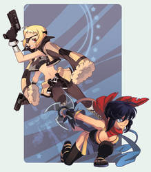 guns, ninja by galou