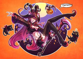 Happy Halloween - Wicked Lulu by MonoriRogue
