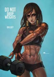 Pharah - Do not drop weights by MonoriRogue