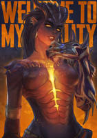 Dragon Symmetra by MonoriRogue