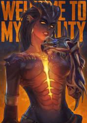 Dragon Symmetra by MonoriRogue