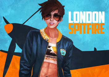 London Spitfire Tracer by MonoriRogue