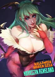 Halloween Harem - Morrigan by MonoriRogue