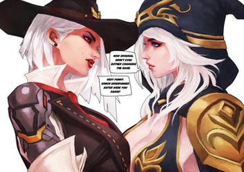 Ashe vs Ashe by MonoriRogue